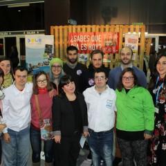 Visita Jóvenes con Síndrome de Down, voluntarios de la Asociación Síndrome de Down de Asturias y del Conceyu de la Mocedá de Xixón