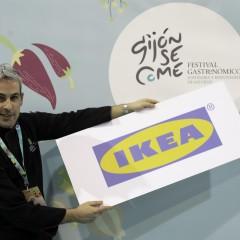 Rubén Díaz (Cocina IKEA) en el PhotoCall del festival