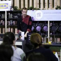 El chef Sebastián Simón (Érase un Gourmet) durante su showcooking en el Espacio IKEA